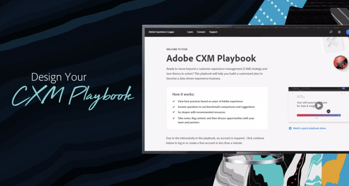 brentwpeterson: Starting today you get access to the CX Playbook from @Adobe #AdobeSummit #AdobeInsiders https://t.co/WUShFSgWWD