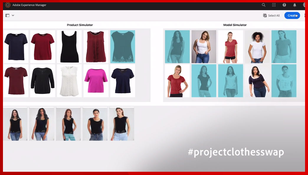 rohrmueller: #projectsclothesswap - wow. AI is fitting clothes on images of people! This is a vote up! #adobesummit https://t.co/tgyzGT7DRn