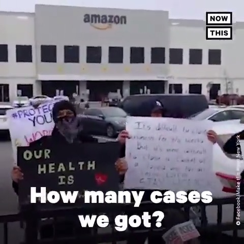 Listen to the powerful words of this Amazon employee in New York, where workers walked off the job to demand better safety precautions in response to COVID-19