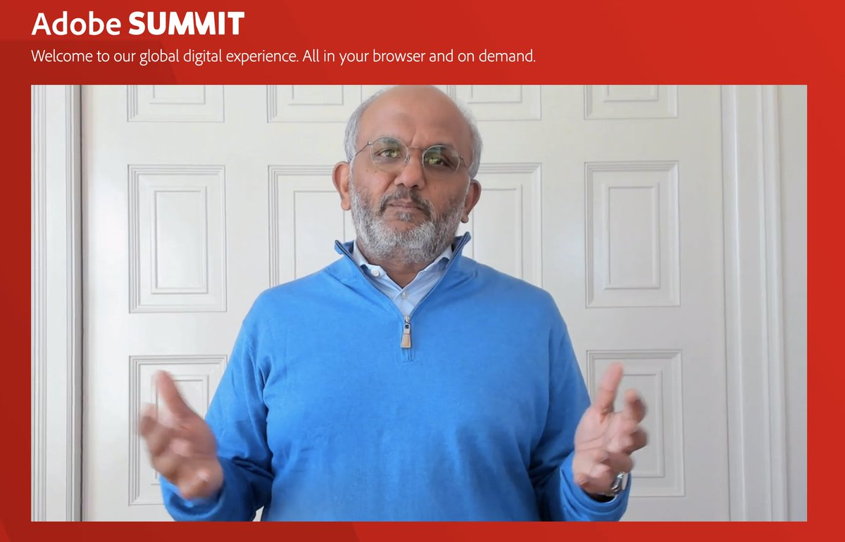 jrsfifo: Excited to listen to our CEO Shantanu Narayen during the #adobesummit. #digitalexperience. https://t.co/8Tv4QOpBBo