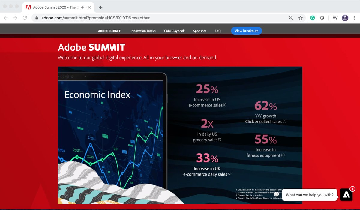 TbwAdvisors: DEI 62% increase in online buying during #stayathome #adobesummit #conferenceWhispers @AdobeSummit #COVID19 https://t.co/h4Fv6XAQ7u