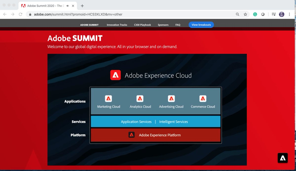 TbwAdvisors: Today - access to Adobe CXM Playbook #AdobeExperienceCloudn#adobesummit #conferenceWhispers @AdobeSummit https://t.co/eEGFsDPxBw