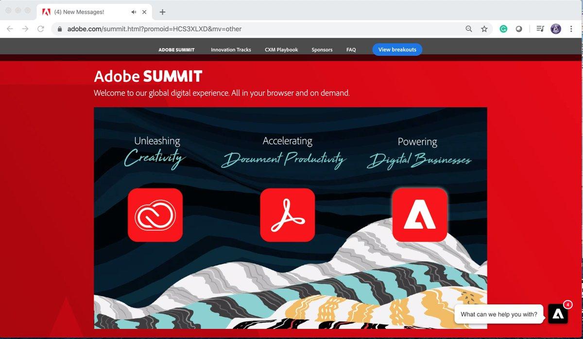 TbwAdvisors: Adobe has three major plays here: #adobesummit #conferenceWhispers @AdobeSummit https://t.co/3p7ildhiNA