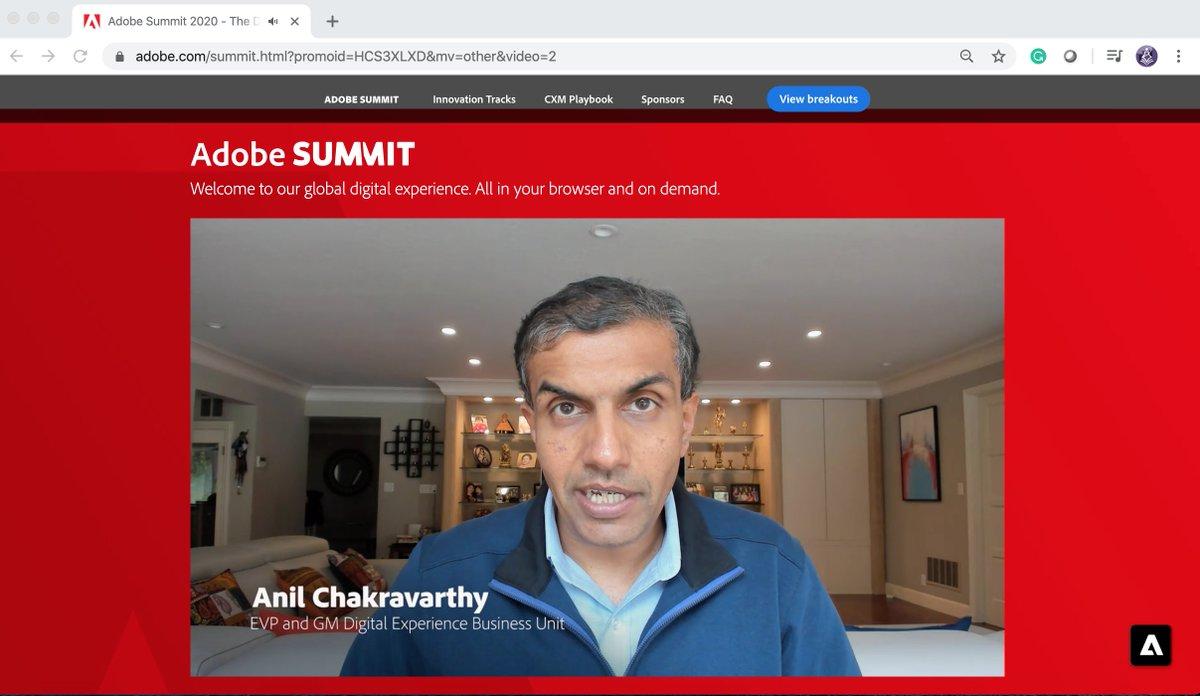 TbwAdvisors: #adobesummit #conferenceWhispers @AdobeSummitn#AnilChakravarthy from @Informatica now at @Adobe https://t.co/Dky4M5HWfA