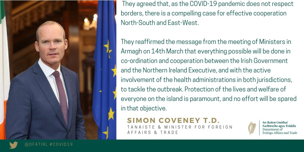 test Twitter Media - Today Tánaiste @simoncoveney & @BrandonLewis jointly chaired a meeting with members of @niexecutive & @roinnslainte. All agreed that all cooperation will be based on the need to be agile, open & consistent.  Full statement 👉 https://t.co/6CXtUBdwyQ https://t.co/Uw3TBg9LOs