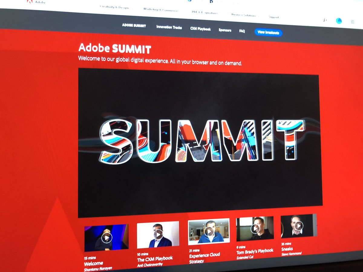 helloangelcakes: Excited to learn!! #AdobeSummit https://t.co/AeLsh30VSj