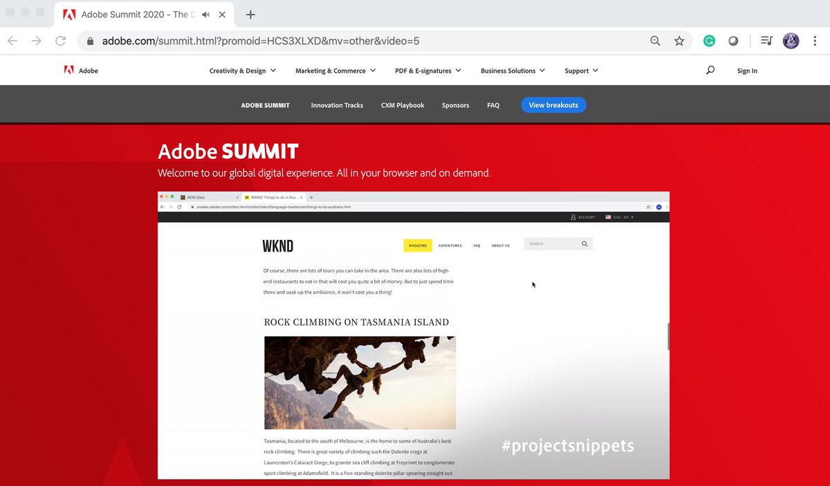 TbwAdvisors: Personalized titled and summarized snippets: #adobesummit #conferenceWhispers @AdobeSummit #sneaks #ProjectSnippets https://t.co/rlUTu78v9K