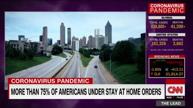 Nearly 80% of Americans ordered to stay at home @nickwattcnn reports