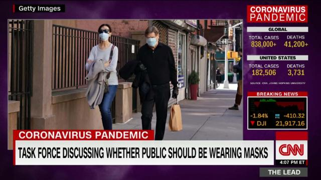 What does Dr. Fauci advise on the public wearing masks? @drsanjaygupta reports