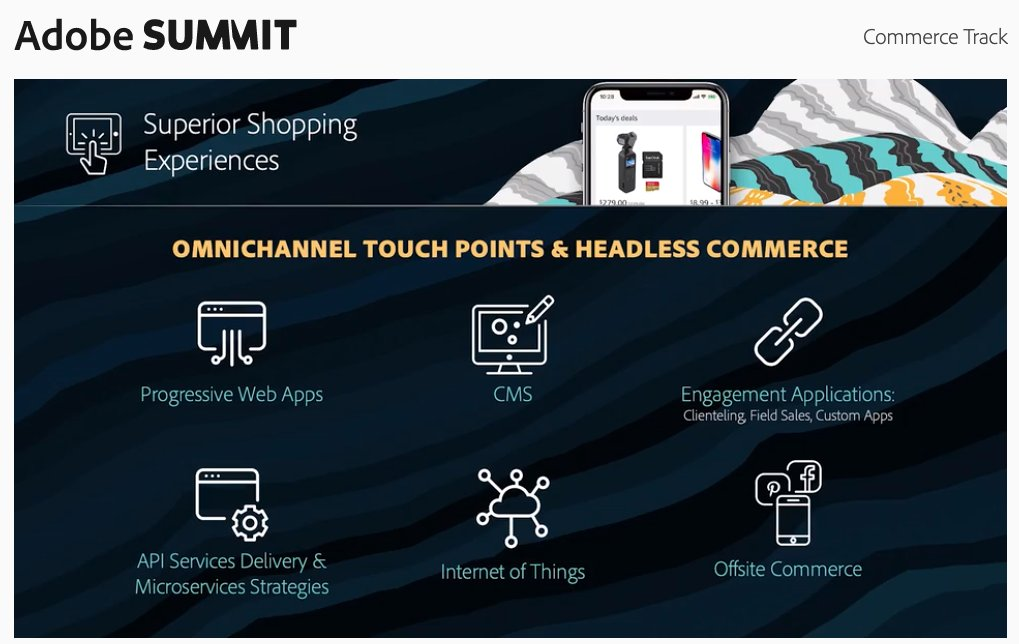 WebShopApps: Omnichannel + headless #commerce technologies for moving forward. #adobesummit @magento https://t.co/JZrL1ZMRe4