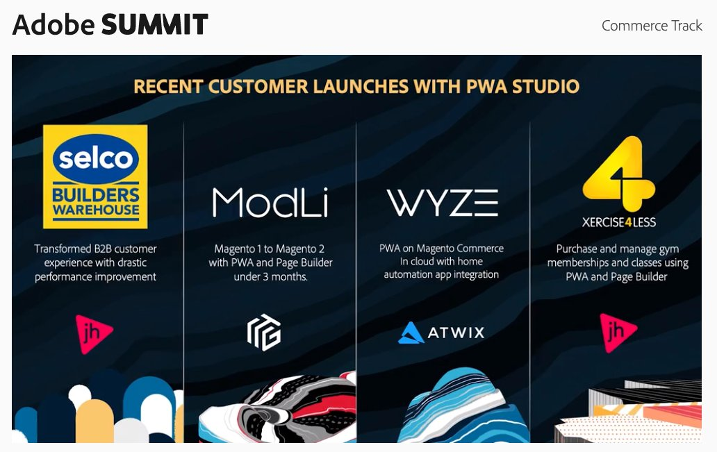 WebShopApps: New innovations coming for the @magento #PWA Studio 🙌🏽nn#adobesummit https://t.co/AA77rsURmC