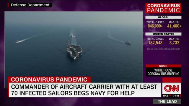 Commander of an aircraft carrier with at least 70 cases of coronavirus publicly pleads for help @barbarastarrcnn reports