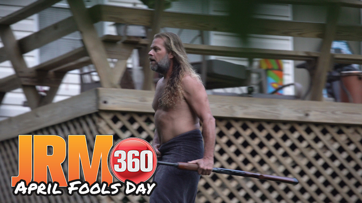 It should be self explanatory but you should never prank a naked man first thing in the morning as the #JRM360 crew learned one day a couple years ago.   📺  #JRNation
