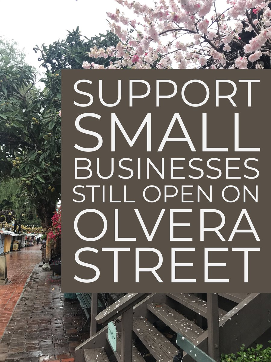 #SupportSmallBusiness food providers that are still open for pick-up/take-out on #OlveraStreet at this time. Please call ahead to confirm hours, menu, and services. & remember to continue #SocialDistancing during your visit! #ElPuebloLA #ThisIsMyPueblo #TakeoutTuesday #LALove