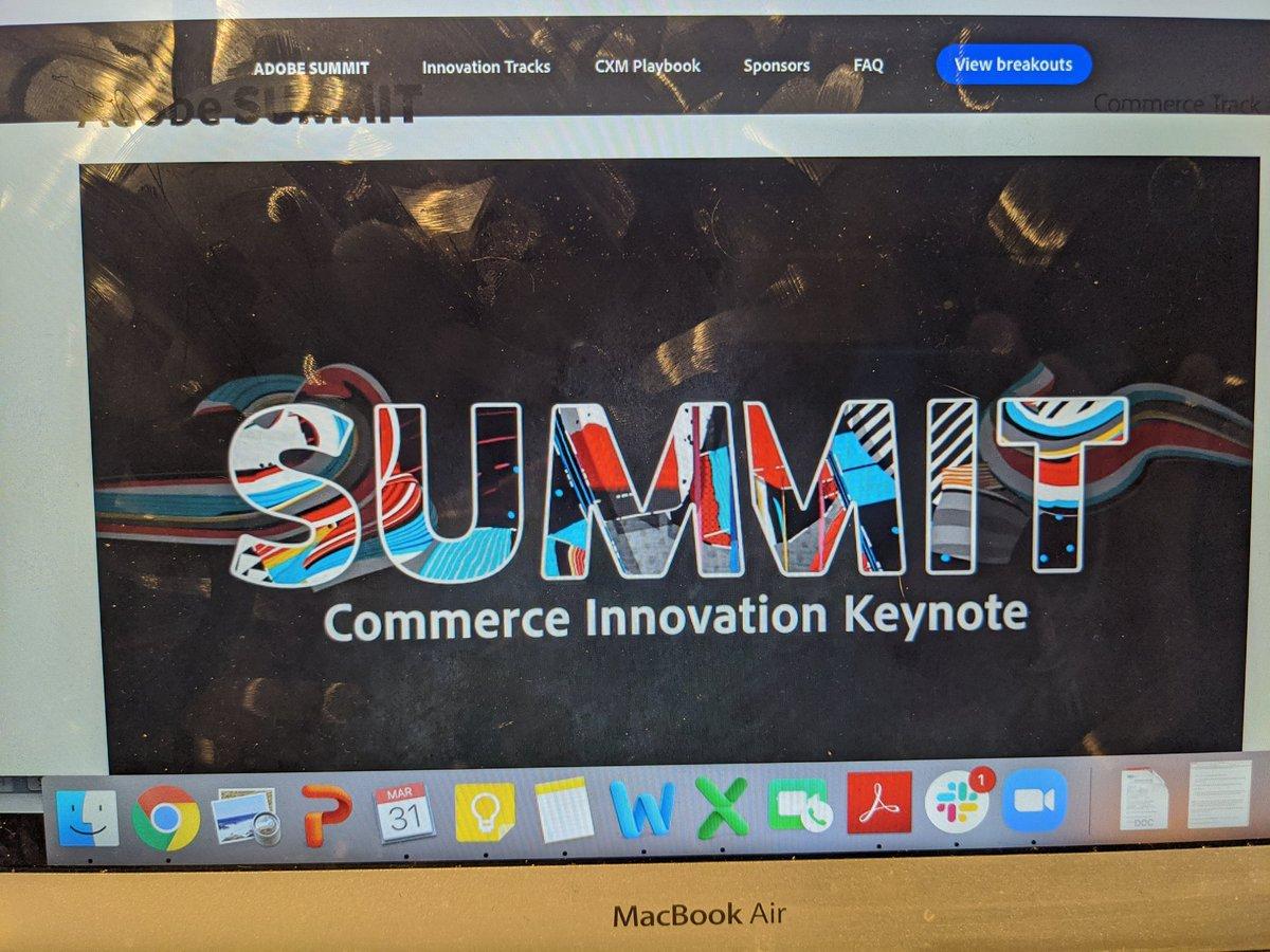 thecitywino: Thanks @adobe for hosting @AdobeSummit virtually this year. Enjoyed the commerce innovation breakout. #AdobeSummit https://t.co/Sje64VXaoJ