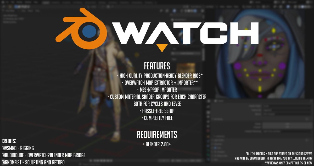 After almost a full year of work, I am happy to unveil Blenderwatch - a one stop solution for all your Overwatch scenes! Download it here today:  Special thanks to vsmnd, @RealAudiodude and @GnomFist for their help with the development.