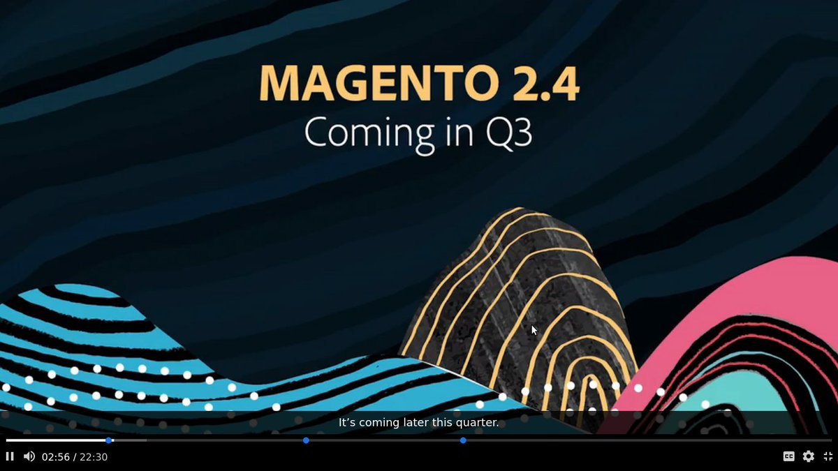 DeepakCED: Hurray Magento 2.4 is coming in Q3 with amazing updatesn@magento @cedcommerce @AdobeSummit #Magento https://t.co/odjoymR1ok