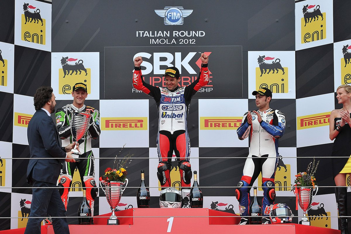 test Twitter Media - Double please🙌  #Onthisday in 2012  @CarlosCheca7 won both races at @autodromoimola 🏁  #WorldSBK https://t.co/Q5hQfNW53O