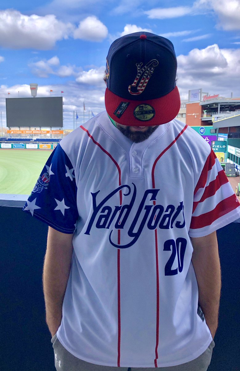 THIS IS NOT AN APRIL FOOLS JOKE.  Hartford Yard Goats Adult USA Replica Jersey is available online at the YG Retro Brand Team Store  🇺🇸: https://t.co/MkfcU5dUt3 https://t.co/lAeTewnO1v