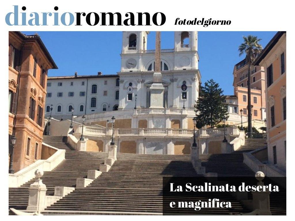 test Twitter Media - Grazie a Salvo I. per questa magnifica e unica #foto della scalinata di piazza di Spagna. Avremmo tutti voglia di #passeggiare per una #Roma deserta ma non si può. Restiamo in casa. . #photo #lettori #COVIDー19 #iorestoacasa #1April https://t.co/pmFIskFEfj