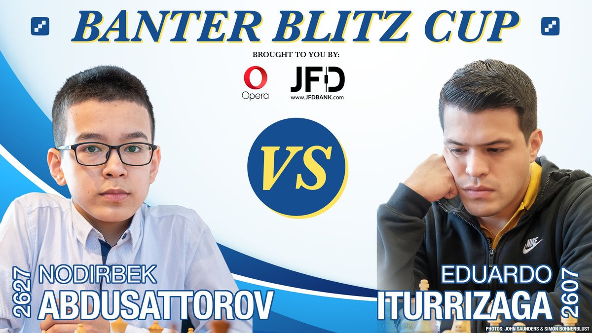 test Twitter Media - Under 1 hour until 15-year-old Nodirbek Abdusattorov takes on 5-time Venezuelan Champion Eduardo Iturrizaga for the final place in the #BanterBlitzCup quarterfinals! https://t.co/FCl1LAtlE9  #c24live https://t.co/KY1dKqPdkE