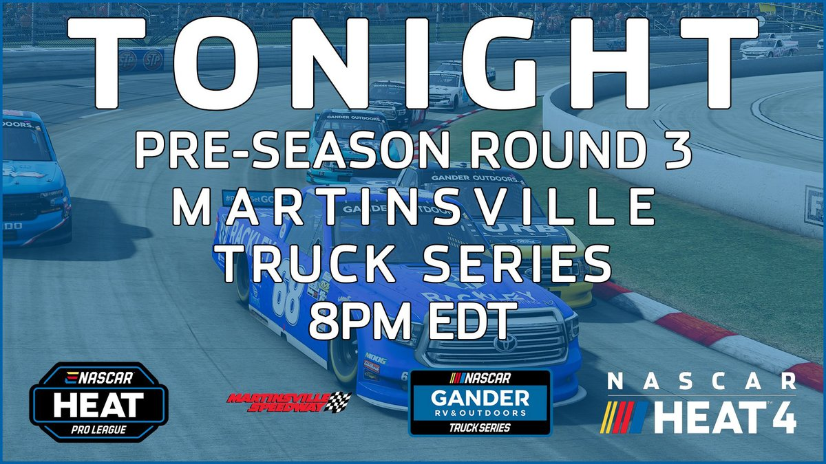 """One. More. Preseason. Race.   That's it! Tonight is the FINAL #eNASCAR Heat Pro League preseason event before we select a driver to join """"HotRod"""" on the #SHReSports roster.   Tune-in at 8 p.m. (ET) on    #SHRacing // @NASCARHeat"""