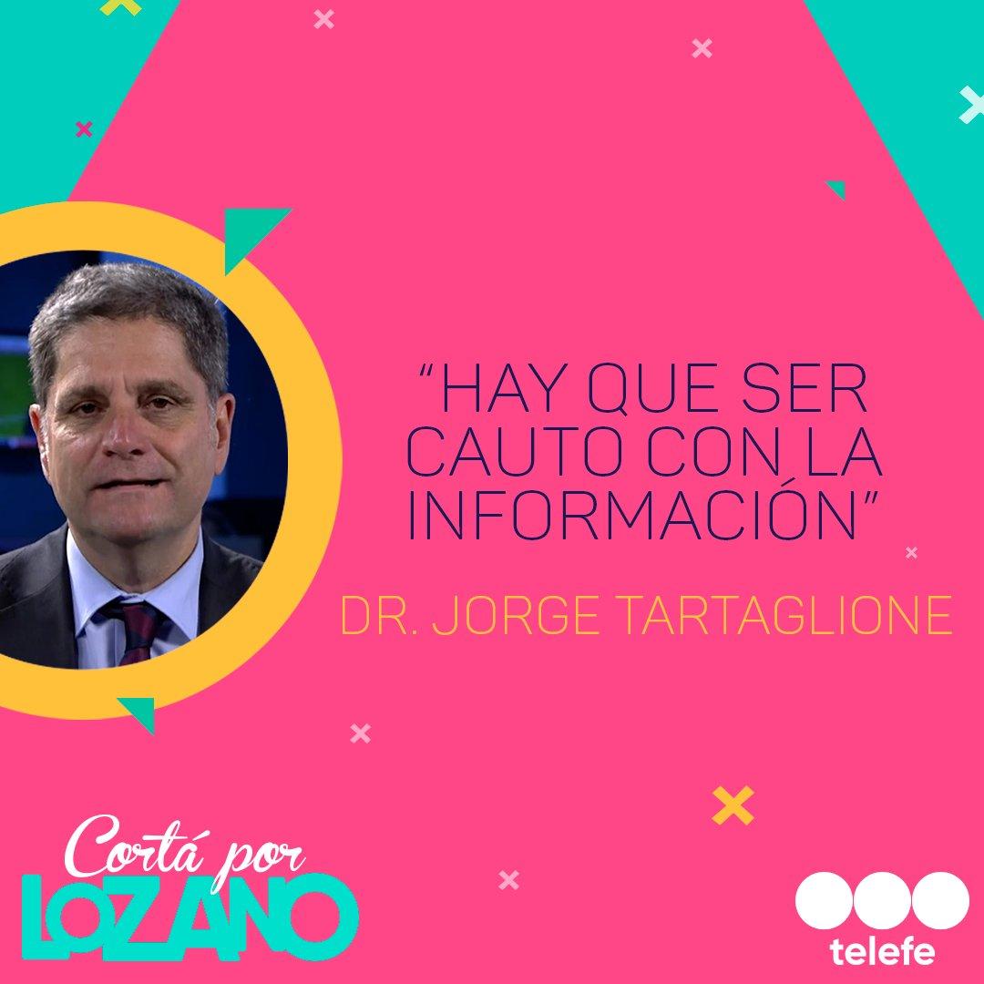 ¿Cómo manipular toda la información que se nos brinda en tiempos de pandemia? El Dr. @JTartaglione habló al respecto 👇🗣 #CortaPorLozano #YoMeQuedoEnCasa #JuntosPodemosLograrlo https://t.co/t7uH4c7izj