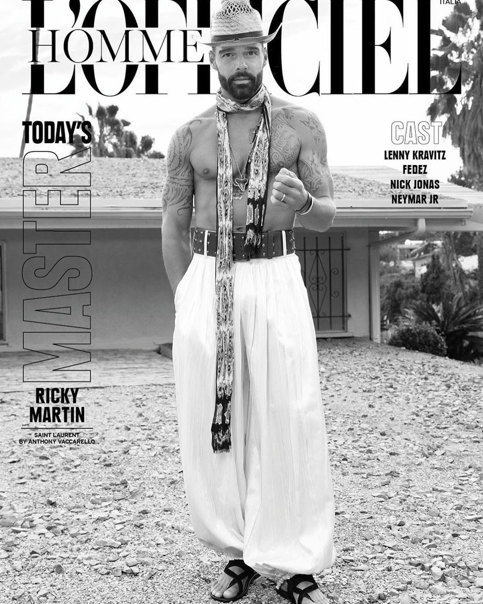 Here's @ricky_martin on the cover of 'L'Officiel Hommes' for your viewing pleasure https://t.co/EzwDiRxkA5