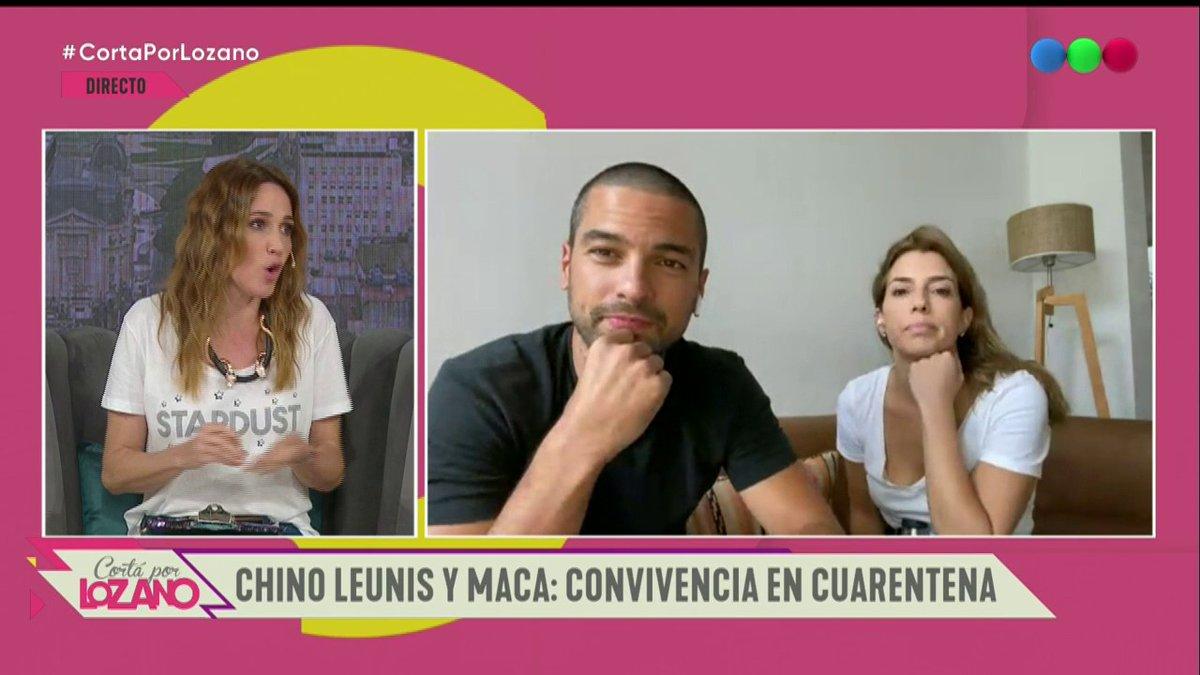 """Visitan el """"diván virtual"""" de #CortaPorLozano: ¡@LeandroLeunis  y su novia Maca! 💘 ¡No te los pierdas! 🙌 https://t.co/qboexOzl78"""