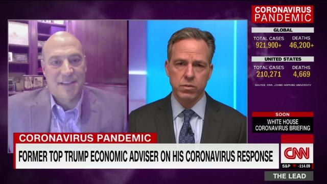 Trump's former economic adviser: Admin needs to get stimulus funds to people and businesses ASAP @Gary_D_Cohn discusses