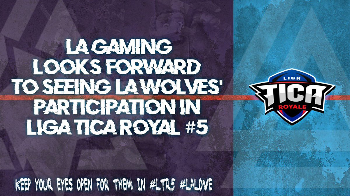 We are thrilled to root on our LATAM #ClashRoyale team in @LigaTicaGG! Keep tuned here and follow @LAGWolves for updates.  #LALove