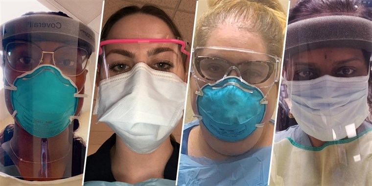 Our nurse's masks are on WEEK THREE of use here in Louisiana. These are one-use masks. Some are using homemade masks.   The US is NOT the biggest, the densest, or the first nation affected.  We are the country with the worst leadership.   #TrumpOwnsEveryDeath