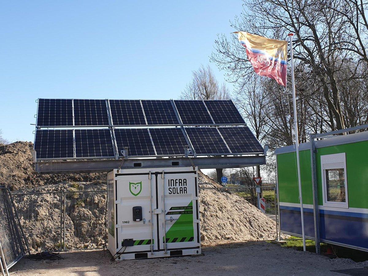 test Twitter Media - #AWGroep is bezig met energietransities en hebben de Infra Solar Mobile Energy Unit in gebruik heeft genomen op een project in Nieuw-Vennep. Een mobiel laadstation dat het ketenpark door middel van groene stroom voorziet van energie en internet. #emissievrij #co2neutraal https://t.co/LSYhzQHK1B