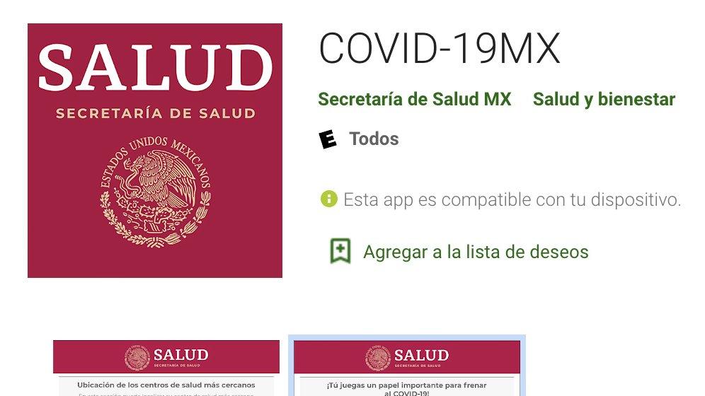 Presentamos la aplicación COVID-19MX para dispositivos móviles. Contribuirá a orientar sobre síntomas de #coronavirus y facilitará el contacto con la @SSalud_mx. Su cobertura es nacional. Está disponible para Android y pronto para iOS. Descárgala: