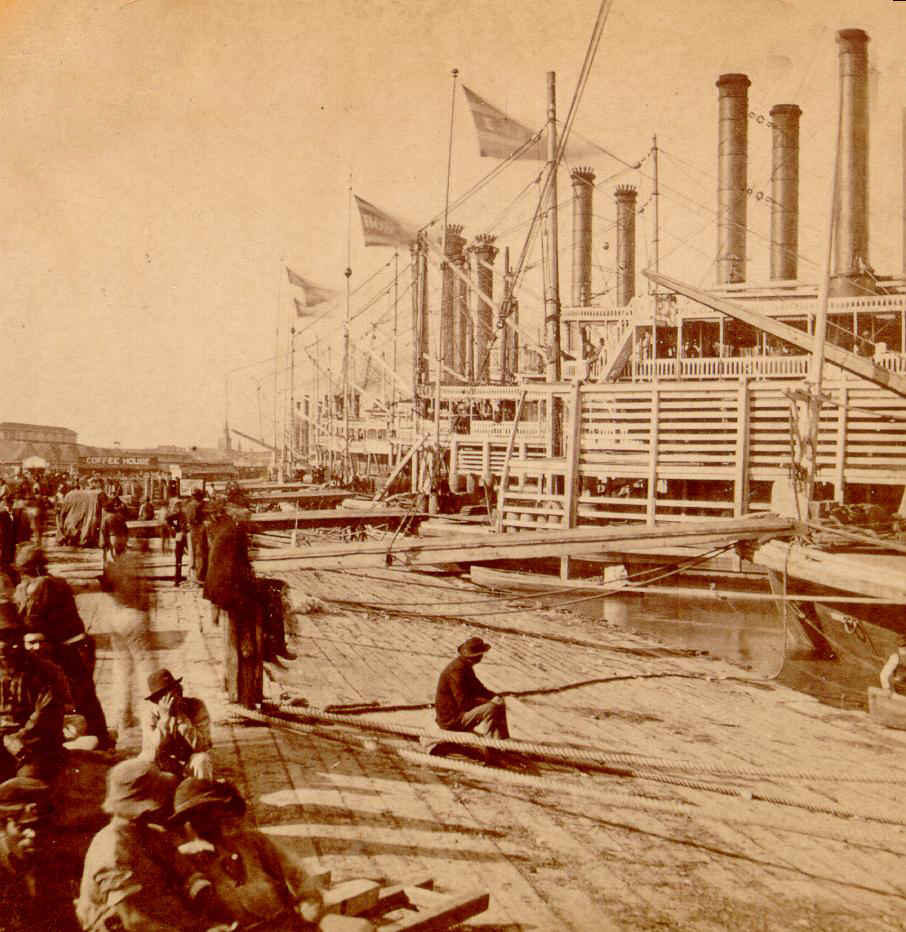 #TBT The levee at New Orleans looked quite a bit different in 1868!