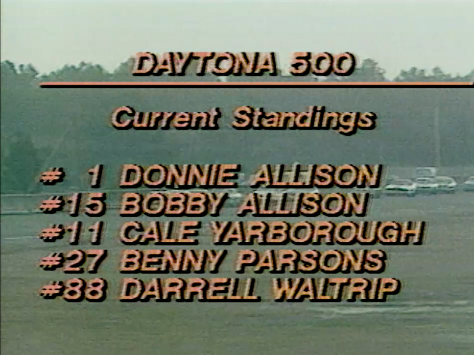 Check out this Top 5 early in the race. Incredible!  #ThrowbackThursday | 1979 #DAYTONA500