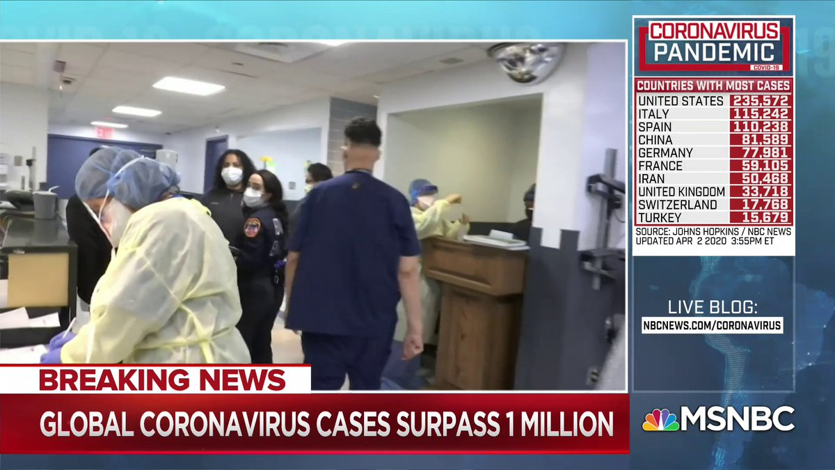"""""""The president's blame game is playing out as the shortage of ventilators in New York meets the real, imminent life-or-death consequences Gov. Andrew Cuomo has been warning about... He says his state on track to run out of ventilators... in less than a week"""" - @NicolleDWallace"""