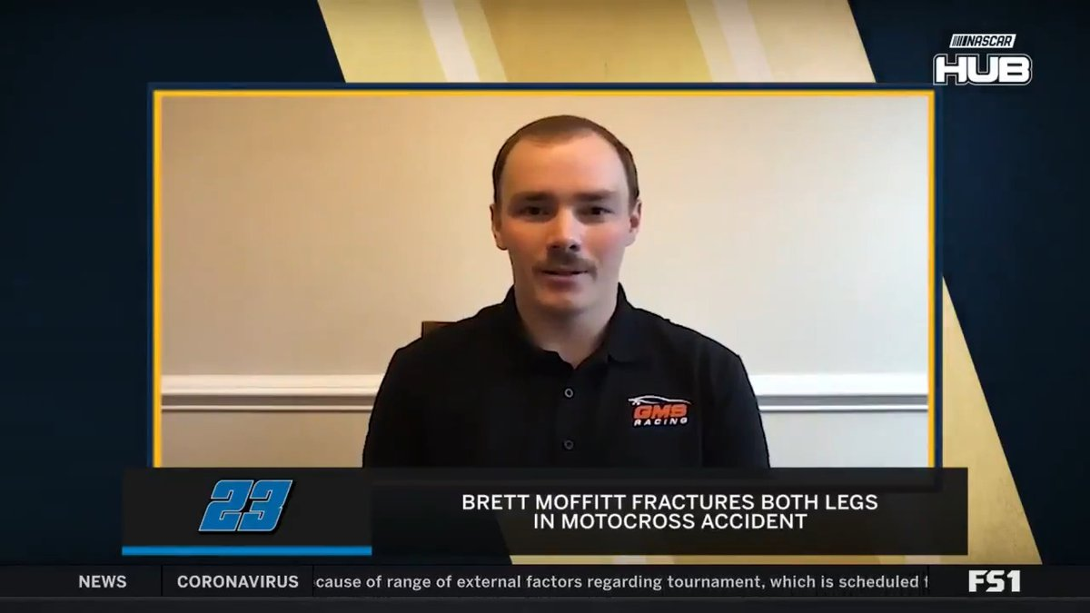 .@Brett_Moffitt is recovering from two broken legs. He gives @kaitlynvincie an update on his recovery. #RaceHub