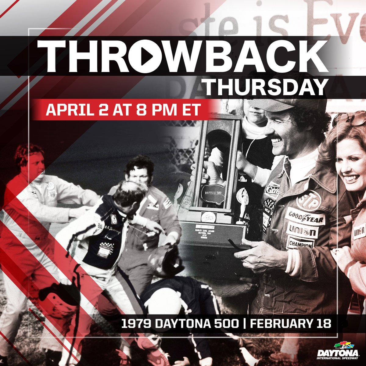 Join us NOW to watch the entire 1979 #DAYTONA500 at