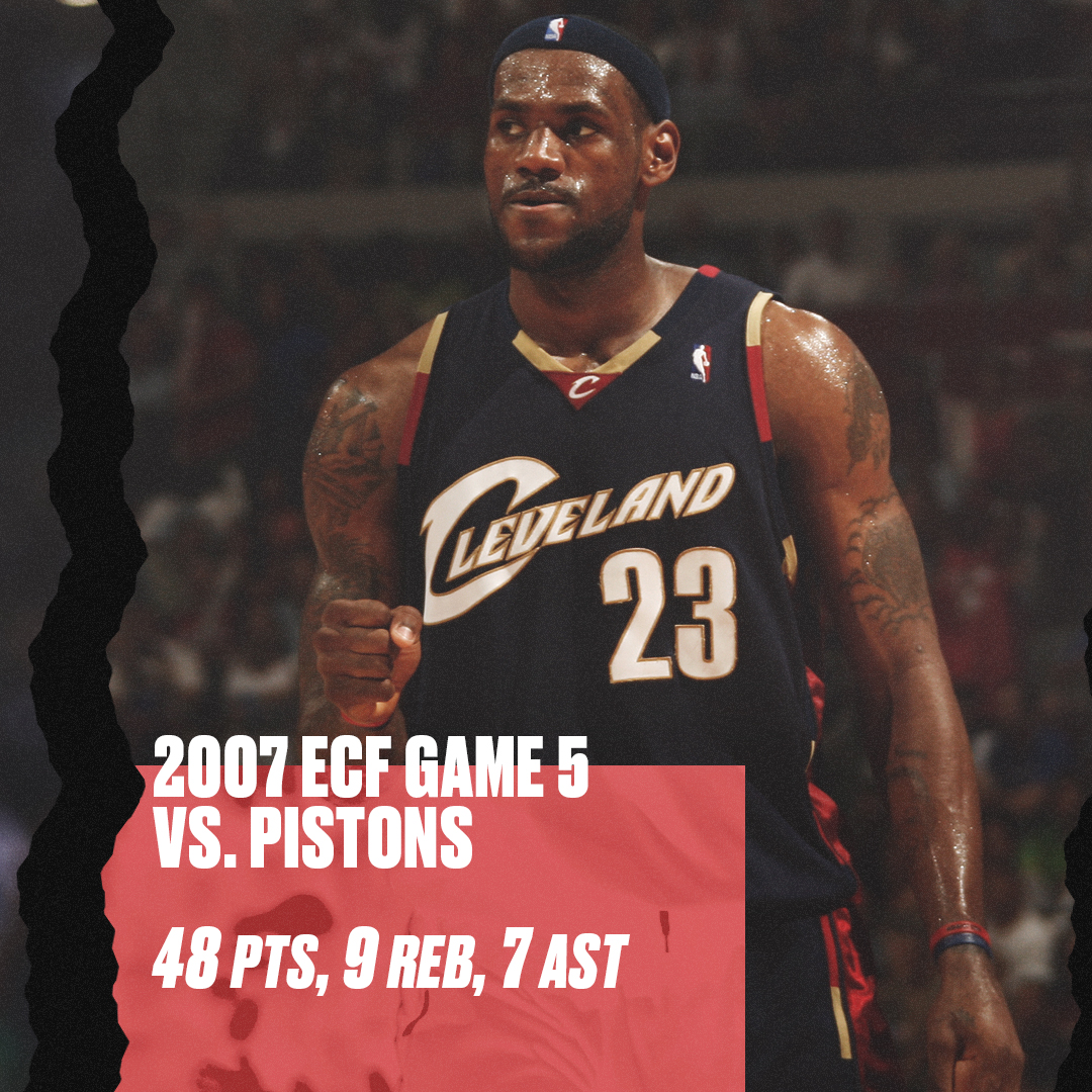 .@KingJames said he's thinking about running back some of his most iconic games soon.   Here's some of his best in the playoffs 👑