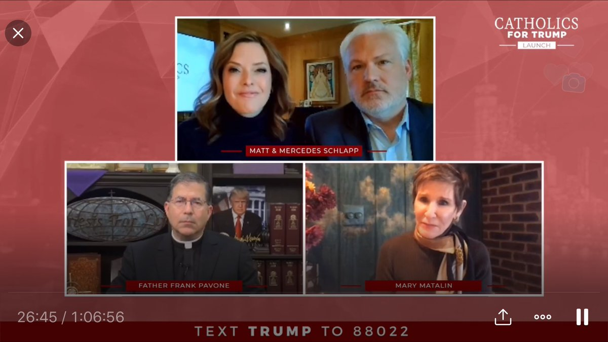 Our #CatholicsForTrump online broadcast has scored over 1.5 MILLION views!  Thanks to @mercedesschlapp, @mschlapp, @frfrankpavone & Mary Matalin for the great show!  More @TeamTrump online programming coming your way while everyone is social distancing.