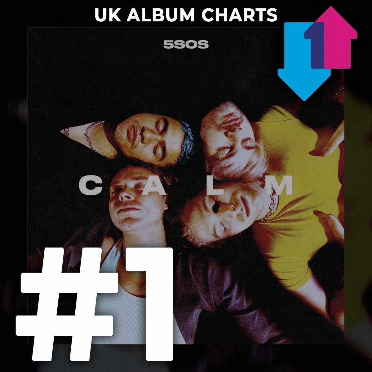 5SOS' fourth album CALM debuts at NUMBER ONE on the Official UK Album Chart! This is 5SOS' second number one album. Congratulations @5SOS! ❤️