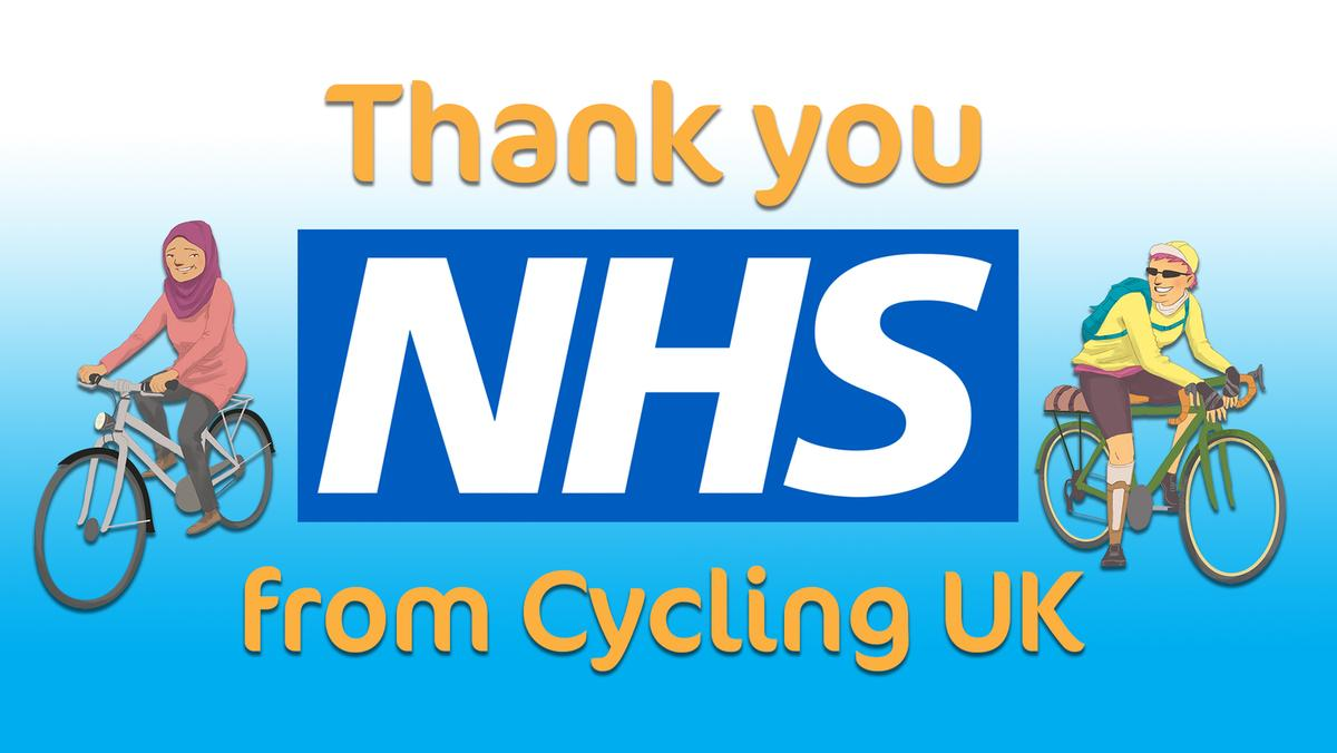 test Twitter Media - #ThankYouNHS from all of us at Cycling UK. 💙 Just as you have got our back, we want to have yours.  We're offering free Cycling UK membership to our brave NHS staff, including third-party insurance and legal advice, to ensure they are protected too.  👉 https://t.co/cwJa2cOCg5 https://t.co/UqYPykzqdH