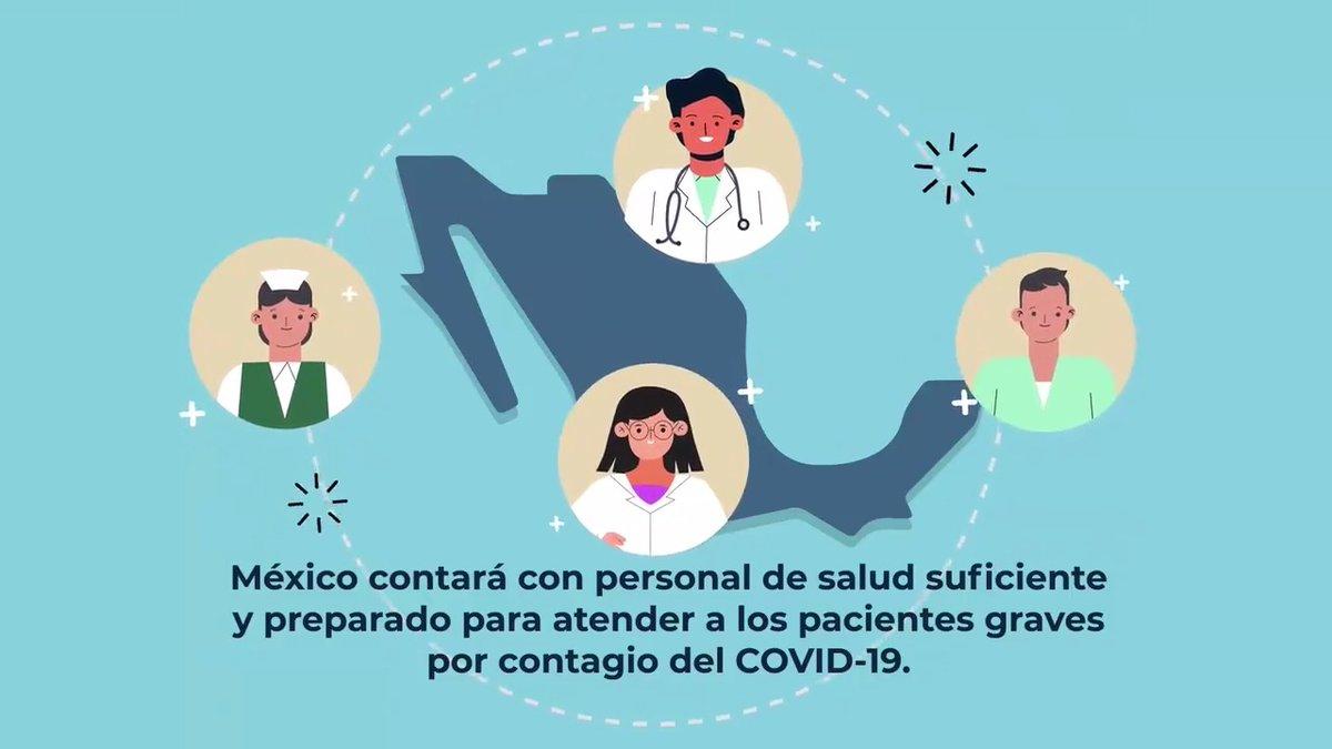 En la conferencia del presidente @lopezobrador_ se presentó la convocatoria dirigida a personal médico y de enfermería para la Estrategia de Reconversión de Recursos Humanos con el objetivo de ampliar la atención en la emergencia sanitaria. Consulta