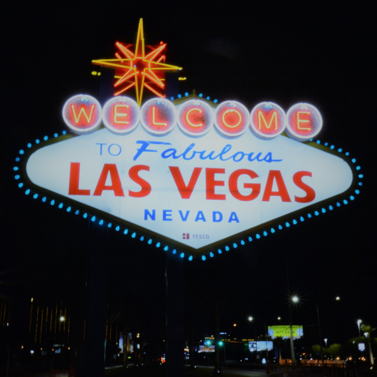 "#VegasGoesBlue - Who is showing support for healthcare workers, first responders and everyone on the front lines in the fight against #COVID19. Reply and share your photos with us - we'll start by showing the blue lights on the ""Welcome to Las #Vegas"" sign. #InItTogether💙"