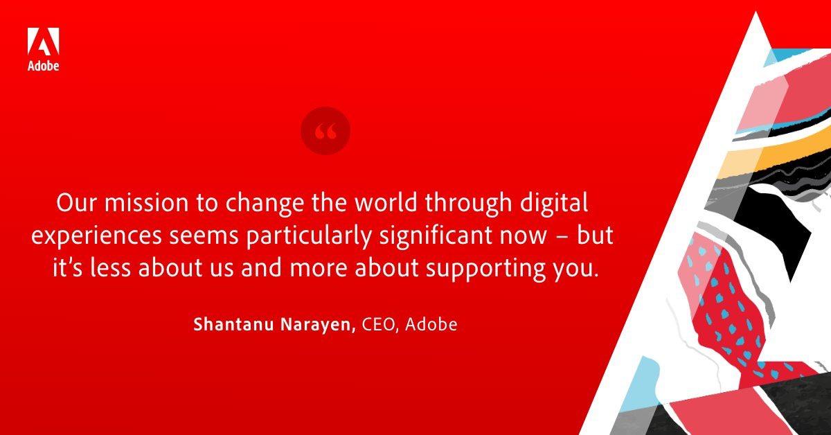 MiriRod: We need to design for brilliance,nBut wire for intelligence ~ @Adobe CEO Shantanu Narayen 👏🏼 #AdobeSummit #ondemand https://t.co/GYnYai7Bg8