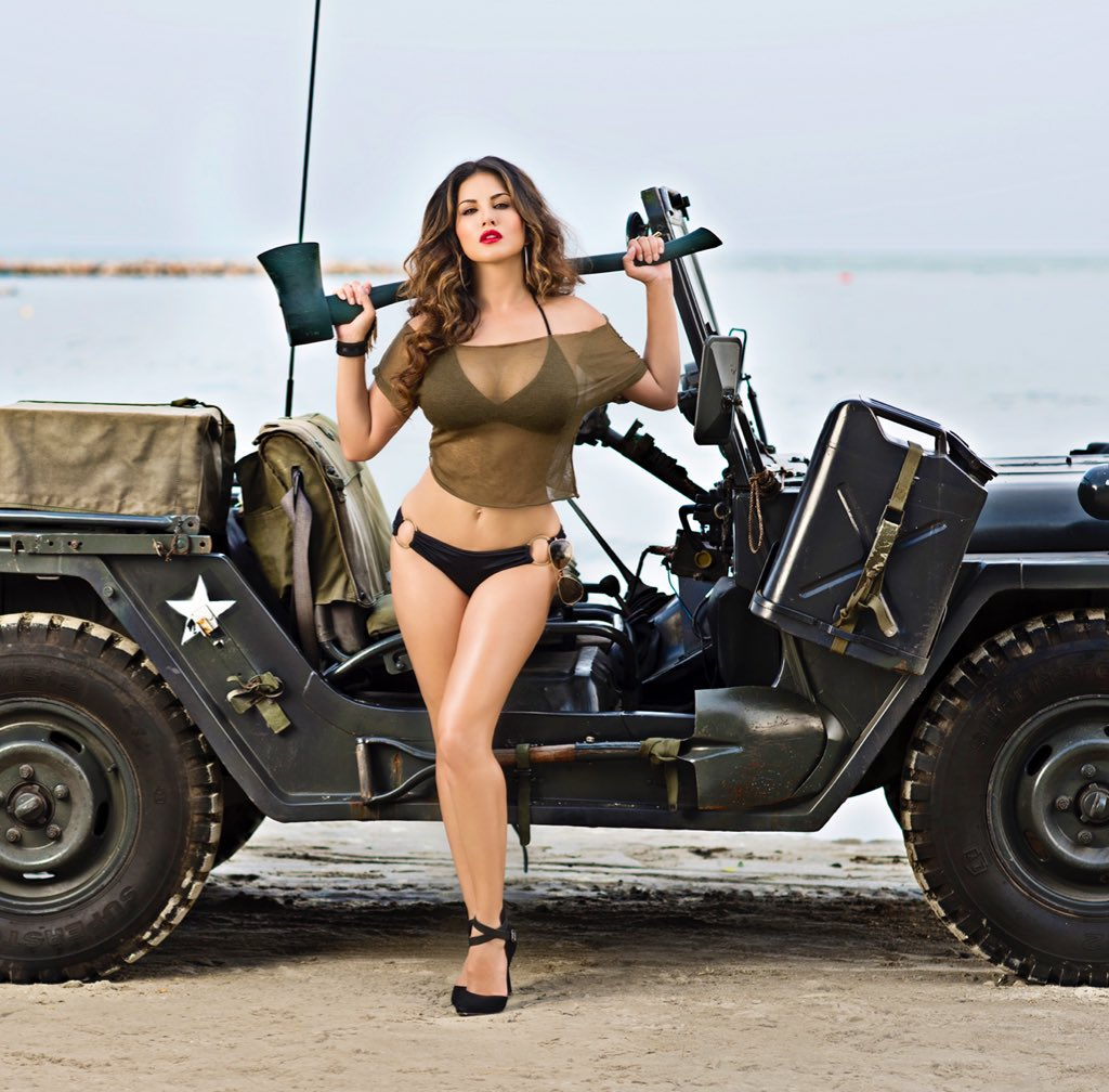I heard there was a army draft coming !!!! . . 12 days of #Summer 🍀  Shot by @DabbooRatnani @ManishaDRatnani  #LockedUpWithSunny #SunnyLeone
