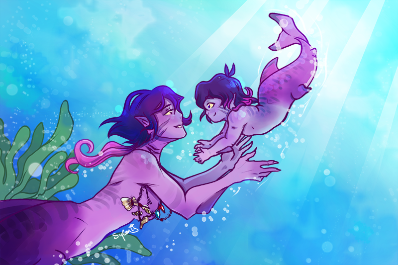I ended up in a rabbithole of stock photos of babies learning to swim and just.... Oh I so wanted to draw a chubby baby mermaid. Mermay isn't far off, right? #keith #krolia #merfolk #mermaid #vld AU