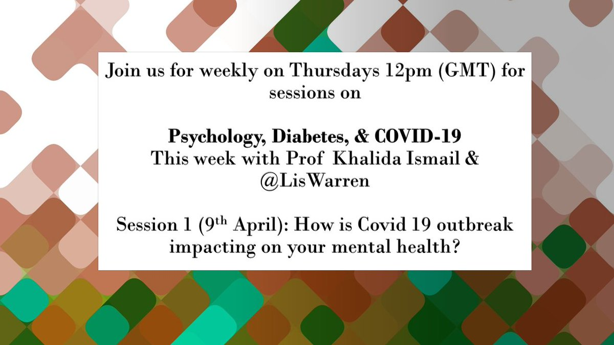 test Twitter Media - This #live #virtual meet-up for people with #diabetes on the #coronavirus crisis & mental health is in 30 mins! From the award-winning diabetes, psychiatry & psychology team @kingshealth @DiabetesKings & @LisWarren. #GBDoc #type1diabetes Join here: https://t.co/vtlJbdHibS https://t.co/yX6Sq3rqID