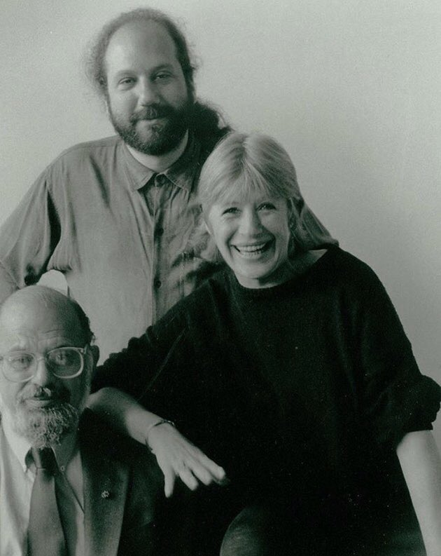 In tribute to Hal Willner, and with love. Marianne with Allen Ginsberg and dear Hal.